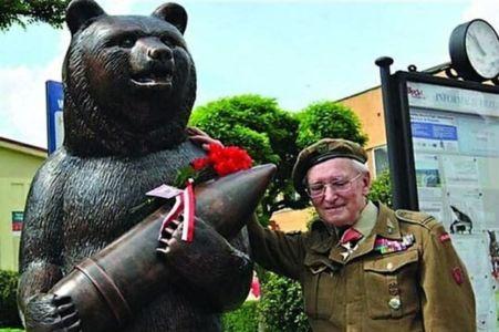 statuie dedicata pentru ursul care a luptat in razboi blog squad store
