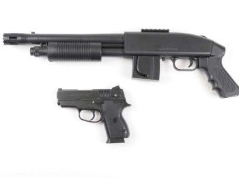 Set replica shotgun Mossberg si pistol S&W magazin Squad Store