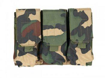 Portincarcator triplu pentru M4/AK47 woodland 8Fields magazin Squad Store