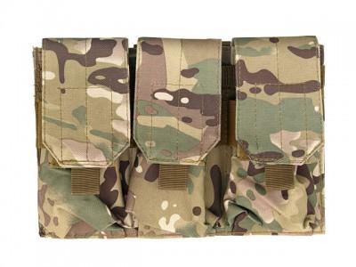 Portincarcator triplu pentru M4/AK47 multicamo 8Fields magazin Squad Store