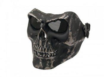 Masca Skull full face neagra cu gri ACM magazin Squad Store