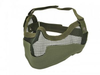 Masca protectie din plasa metalica olive 8fields magazin Squad Store