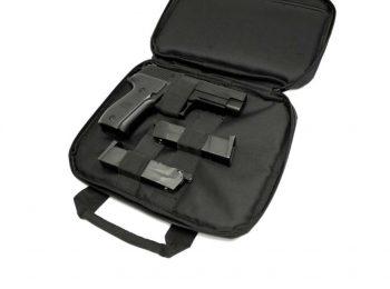Geanta transport 2 pistoale neagra - CyberGun magazin Squad Store