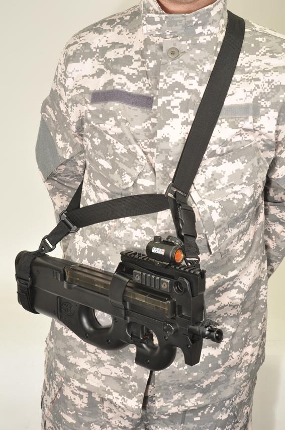 Curea tactica 3 puncte P90 negru Swiss Arms magazin Squad Store