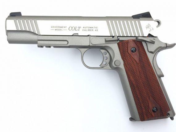 Replica Colt M1911 full metal cu sina RIS CyberGun magazin Squad Store