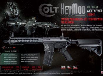 Replica Colt M4A1 keymod mijlocie metal CyberGun magazin Squad Store