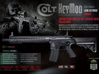 Replica Colt M4A1 keymod lunga full metal magazin Squad Store CyberGun