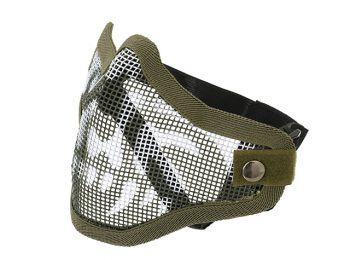 Masca din plasa metal craniu olive magazin Squad Store