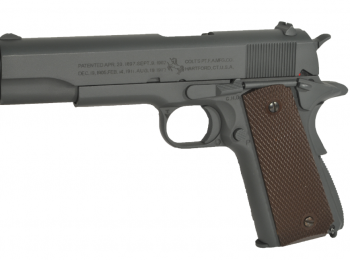 Replica Colt 1911 gri metal CO2 blow-back - CyberGun