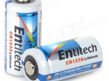 Baterie litiu CR123A - Entitech magazin Squad Store