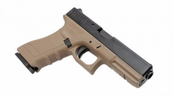 Replica G17 tan slide metal blow-back - KJW