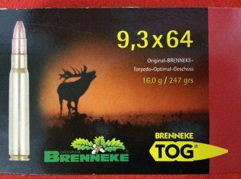 Cartus Brenneke cal. 9,3X64 TOG 16.0 G