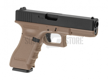 Replica G17 slide metal blow-back CO2 desert - KJW